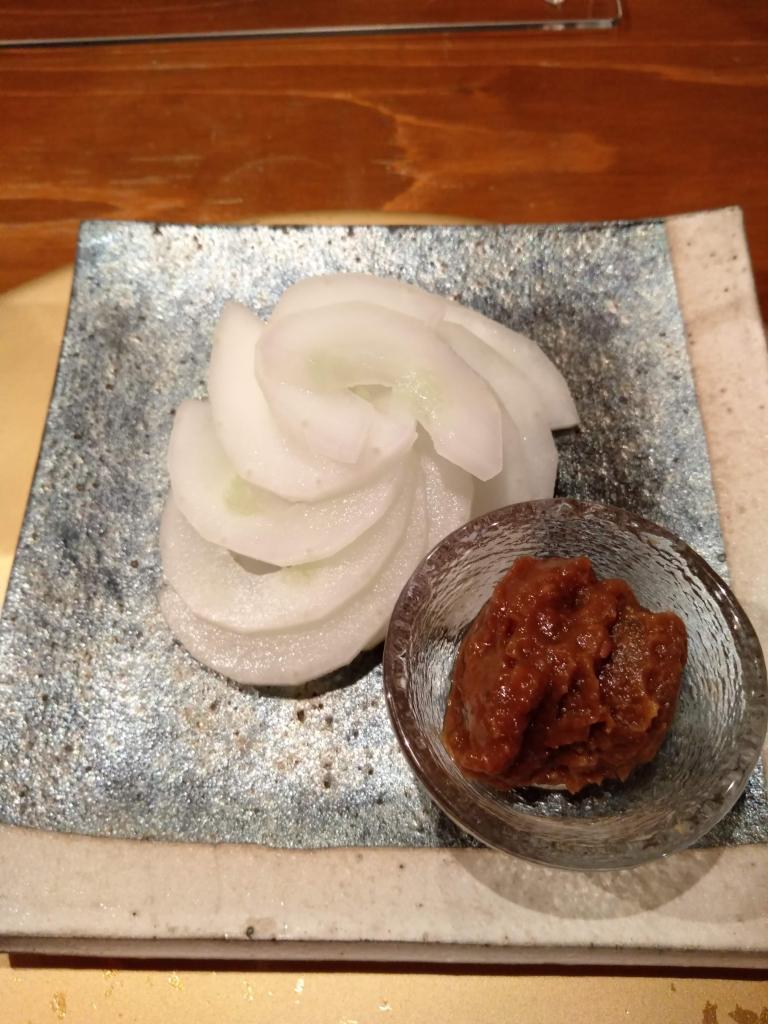 モーウィの梅味噌添え(なかい家)