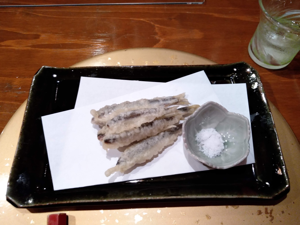 小鮎の天ぷら(なかい家)