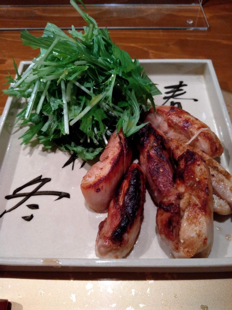 地鶏の柚子胡椒焼き(なかい家)